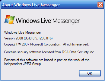 About Windows Live Messenger