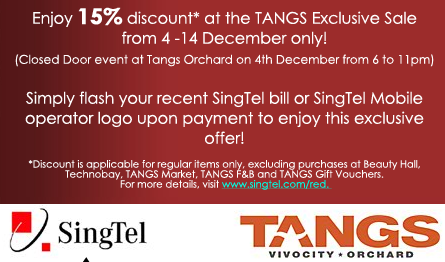 SingTel and TANGS promotion