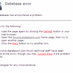 Digital Point Forums Database Fails Again