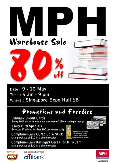 MPH Warehouse Sale - Up to 80% Off