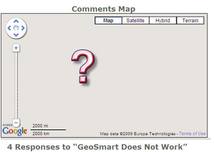 No Google Map on GeoSmart