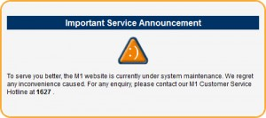 M1 Website Maintenance