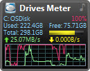 Drives Meter Gadget for Windows Desktop